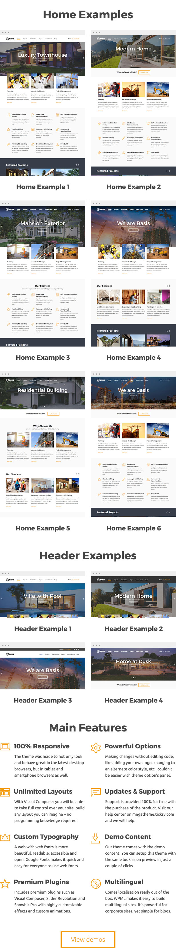 Basis - Construction Business WordPress Theme - 1