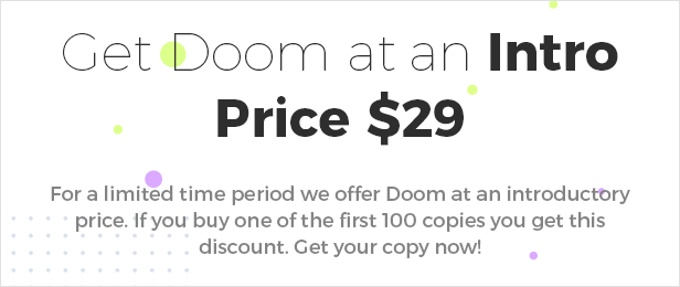 Doom - Multi-Purpose WordPress Theme - 1